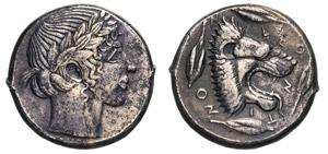 SICILIA - LEONTINI -  (450-430 a.C.) ...