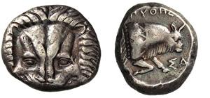 IONIA - SAMOS -  (394-365 a.C.) Tetradramma. ...
