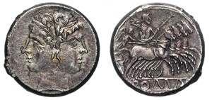 ROMANO-CAMPANE (225-212 a.C.) Didramma.  B. ...