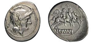 ANONIME (dopo il 211 a.C.) Quinario.  B. 3  ...