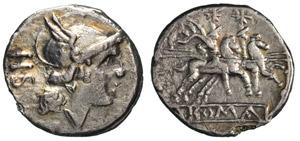 ANONIME (dopo il 211 a.C.) Sesterzio.  B. 4  ...