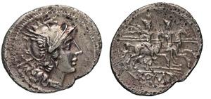 ANONIME (dopo il 211 a.C.) Denario, simbolo ...