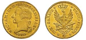 VITTORIO AMEDEO III (1773-1796) Doppia nuova ...