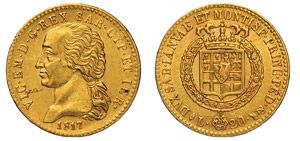 VITTORIO EMANUELE I (1802-1821) 20 Lire 1817 ...