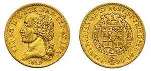 VITTORIO EMANUELE I (1802-1821) 20 Lire 1819 ...