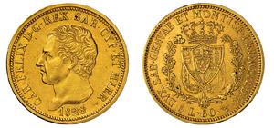 CARLO FELICE (1821-1831) 80 Lire 1828 Torino ...