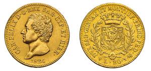 CARLO FELICE (1821-1831) 20 Lire 1824 ...