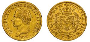 CARLO FELICE (1821-1831) 20 Lire 1828 Torino ...