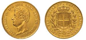 CARLO ALBERTO (1831-1849) 20 Lire 1831 ...