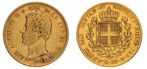 CARLO ALBERTO (1831-1849) 20 Lire 1833 ...