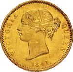 INDIA - VITTORIA  (1837-1901)  Mohur 1841.   ...