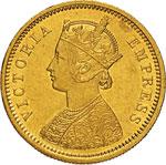 INDIA - VITTORIA  (1837-1901)  Mohur 1877.   ...