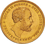 NORVEGIA - OSCAR II  (1872-1905)  20 Kroner ...