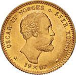 NORVEGIA - OSCAR II  (1872-1905)  10 Kroner ...