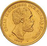 SVEZIA - OSCAR II  (1872-1907)  20 Kronor ...