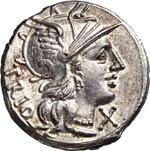LUCRETIA - Cn. Lucretius Trio  (136 a.C.)  ...
