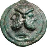 ANONIME  (225-217 a.C.)  Asse.  D/ Testa di ...