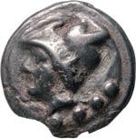 ANONIME  (225-217 a.C.)  Triente.  D/ Testa ...