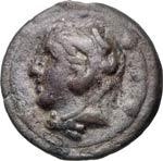 ANONIME  (225-217 a.C.)  Quadrante.  D/ ...