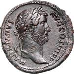 ADRIANO  (117-138)  Sesterzio.  D/ Testa ...