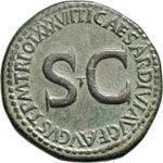 TIBERIO  (14-37)  Sesterzio.  D/ Carpentum ...