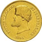 BRASILE  PEDRO II  (1831-1889)  20.000 Reis ...