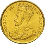 CANADA  GIORGIO V  (1910-1936)  5 Dollari ...