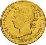 FILIPPINE  ISABELLA II  (1833-1868)  4 Pesos ...