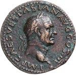 VESPASIANO  (69-79)  Asse.  D/ Testa ...