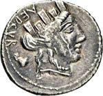 FURIA - P. Furius Crassipes  (84 a.C.)  ...