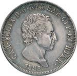 SAVOIA  CARLO FELICE  (1821-1831)  5 Lire ...