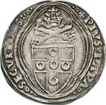 PIO II  (1458-1464)  Grosso, Roma.  D/ ...