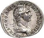 TRAIANO  (98-117)  Denario.  D/ Busto ...