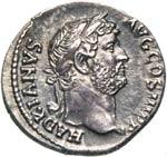 ADRIANO  (117-138)  Denario.  D/ Testa ...