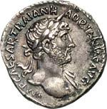 ADRIANO  (117-138)  Denario.  D/ Busto ...