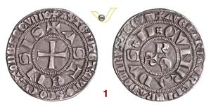ASTI  COMUNE  (1140-1336)  Grosso Tornese. ...