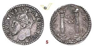 BOLOGNA  CARLO V  (1530-1556)  Reale 1530, ...
