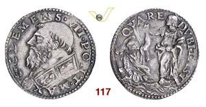 - CLEMENTE VII  (1523-1534)  Doppio Carlino ...