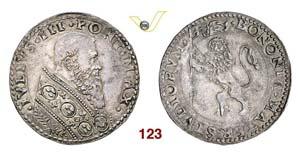 - GIULIO III  (1550-1555)  Bianco, Bologna. ...