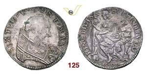 - SISTO V  (1585-1590)  Testone s.d., ...