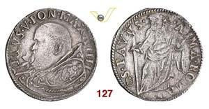 - PAOLO V  (1605-1621)  Testone A. IV, ...