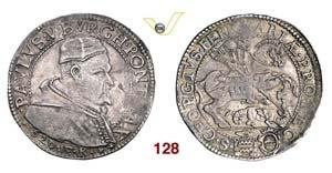 - PAOLO V  (1605-1621)  Testone 1620, ...