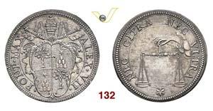 - ALESSANDRO VII  (1655-1667)  Testone s.d. ...