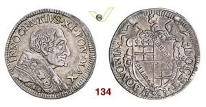 - INNOCENZO XI  (1676-1689)  Testone 1683, ...