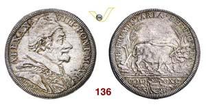 - ALESSANDRO VIII  (1689-1691)  Testone ...
