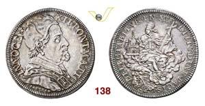 - INNOCENZO XII  (1691-1700)  Mezza Piastra ...