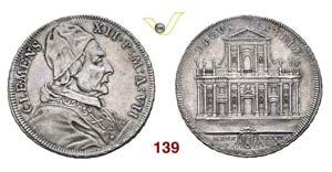 - CLEMENTE XII  (1730-1740)  Mezza Piastra ...