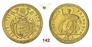 - PIO VII  (1800-1823)  Doppia romana A. V, ...
