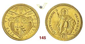 - PIO VII  (1800-1823)  Doppia romana A. ...