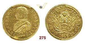 ARGENTINA - 2 Escudos 1842 R, La Rioja.   ...